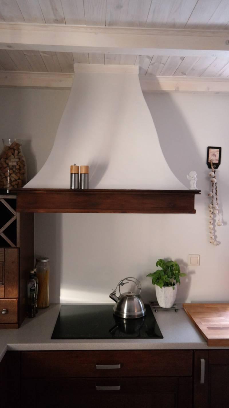Okapy Drewniane Nowoczesna kuchnia  Pracowania stylowych